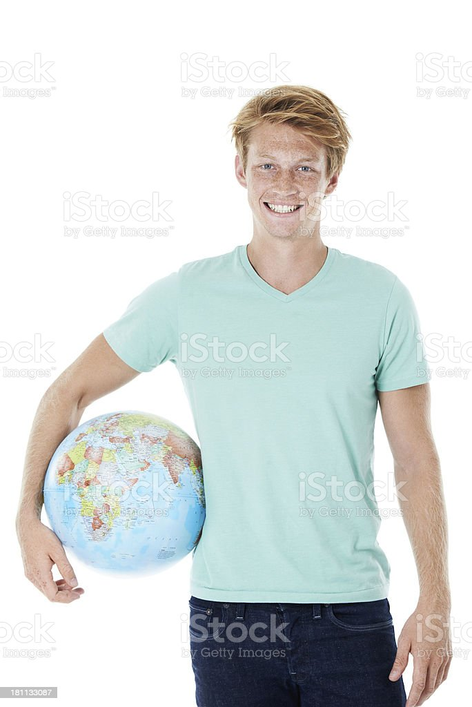 Ready to take on the world royalty-free stock photo