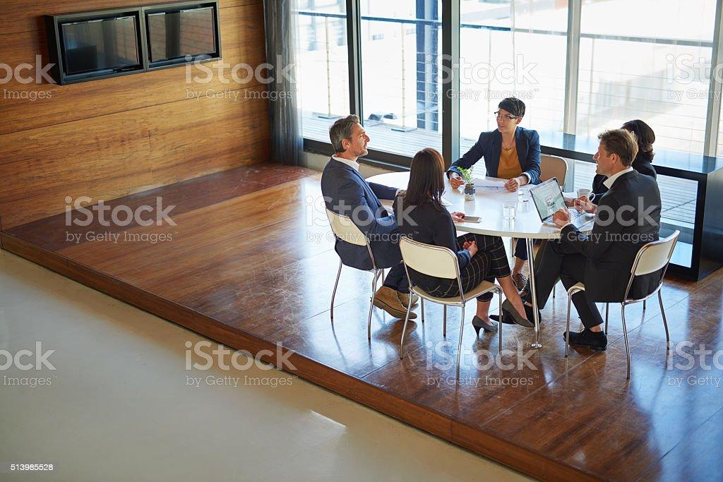 Ready to take their company to the next level stock photo