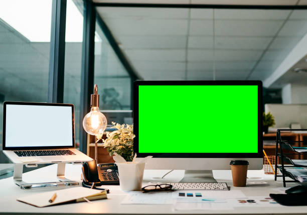 ready to take this business online - green screen background stock photos and pictures