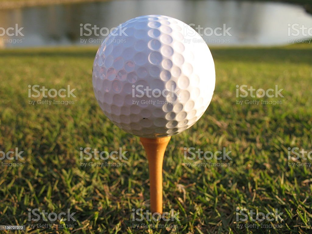 Ready to Tee-Off royalty-free stock photo