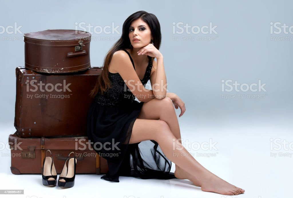 Ready to travel with me? stock photo