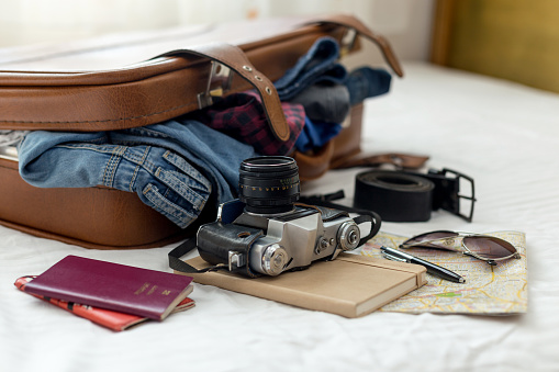 Ready vacation suitcase