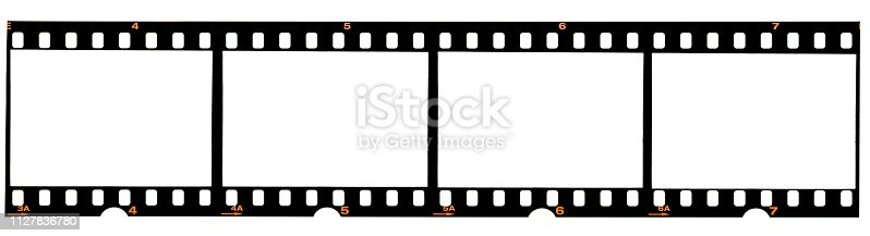 1125303139 istock photo real 35mm film strip on white, analogue photo frame placeholder 1127836780