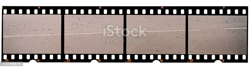 1125303139 istock photo real 35mm film strip on white, analogue photo frame placeholder 1127836781