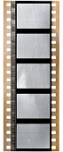 real 35mm movie film strip with sound waves