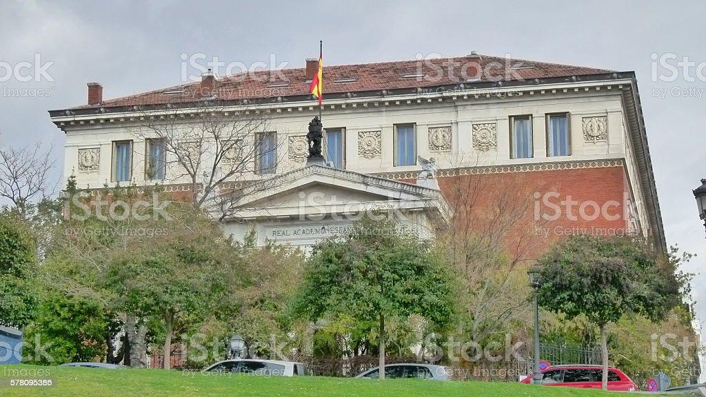 Real Academia Española stock photo