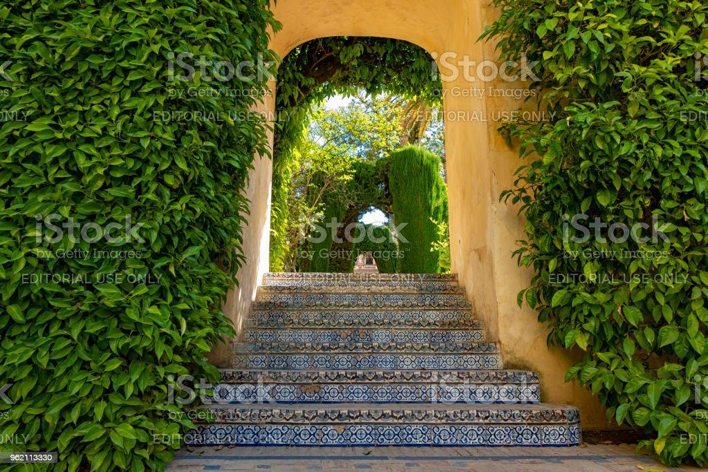 Palacio de Alcázar Real de Sevilla - foto de stock