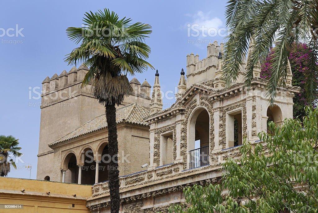 Real Alcazar Sevilla royalty-free stock photo