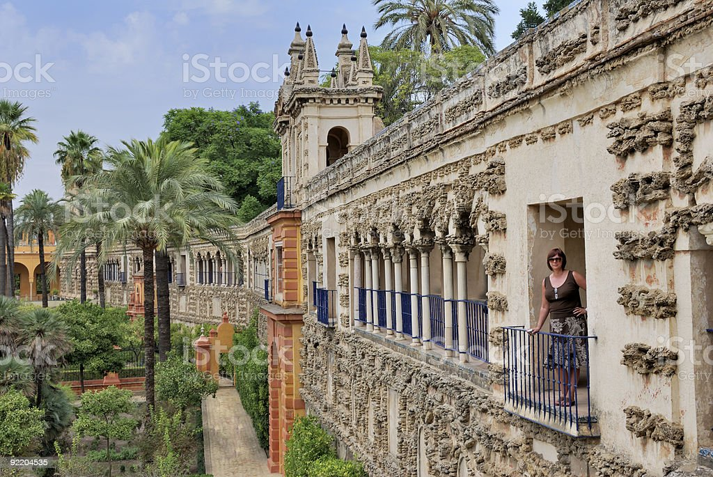 Real alcázar Sevilla - foto de stock