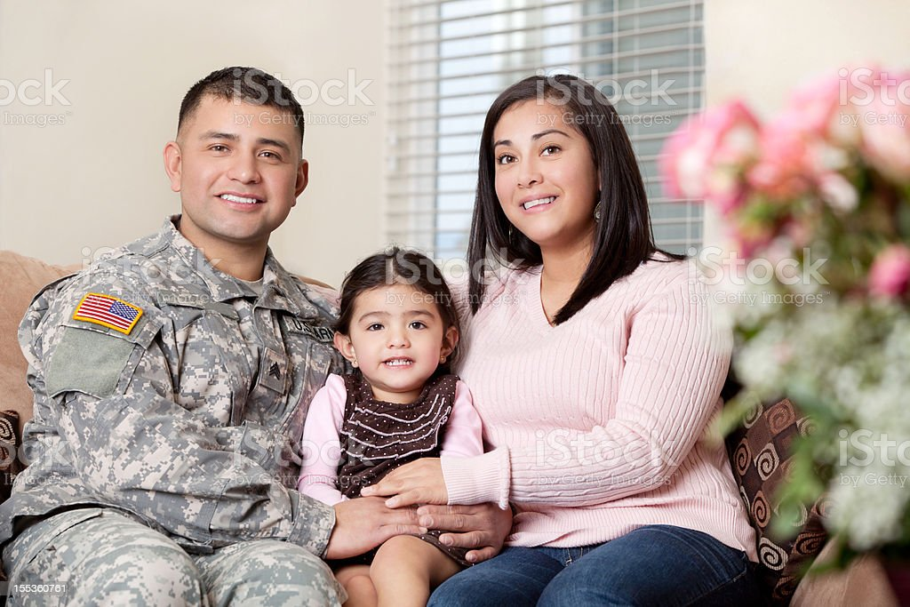 Real American Army Family royalty-free stock photo