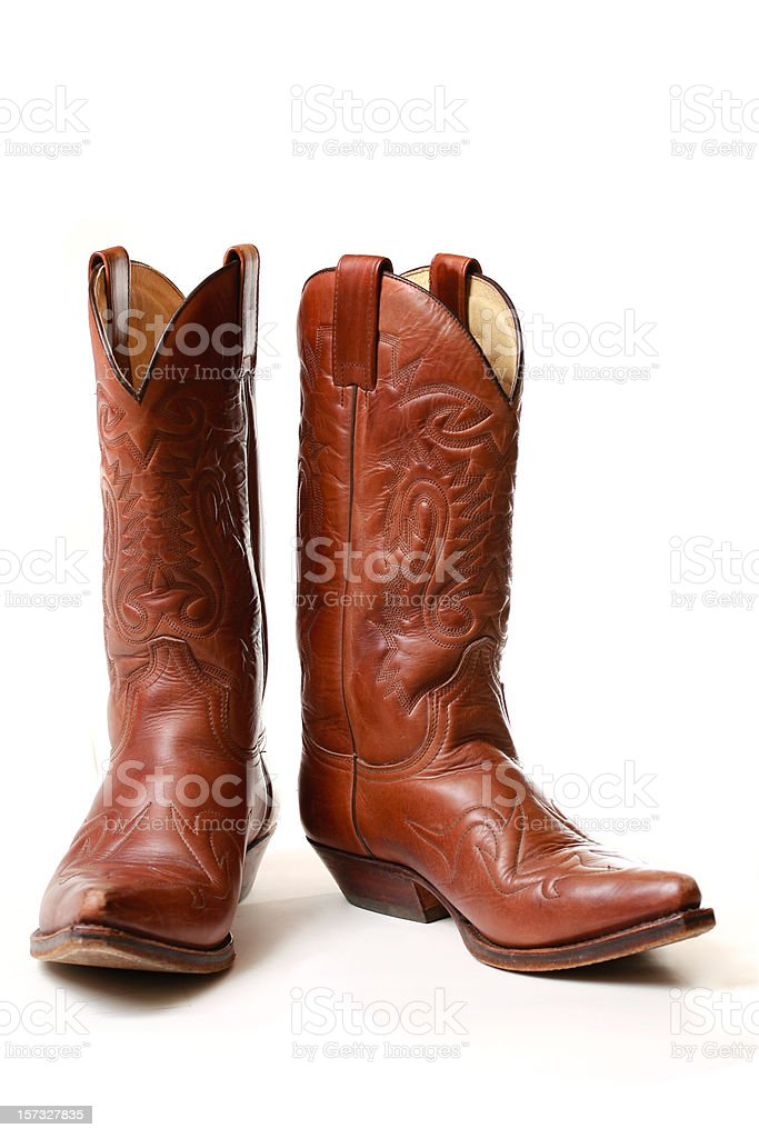 Real american cowboy boots stock photo