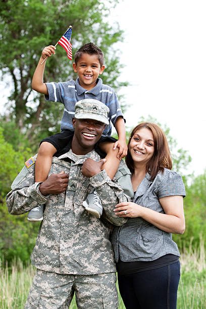 Real American Military Family Real American Military Family. military lifestyle stock pictures, royalty-free photos & images