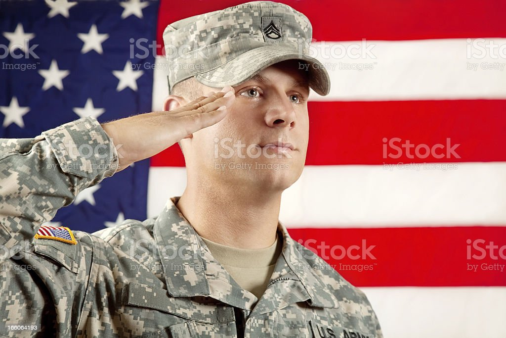 Real American Soldier royalty-free stock photo