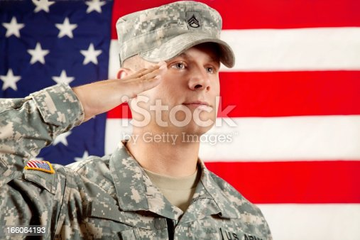 istock Real American Soldier 166064193