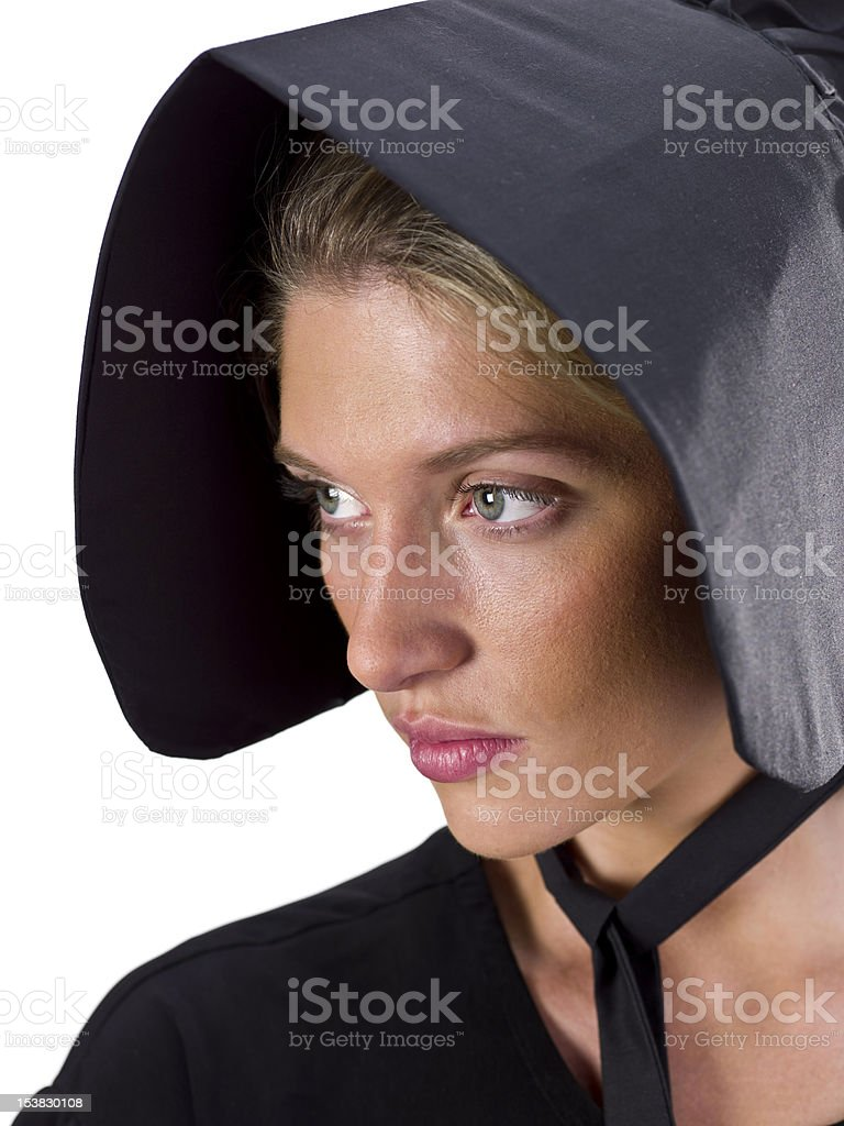 Real Amish Young Woman stock photo