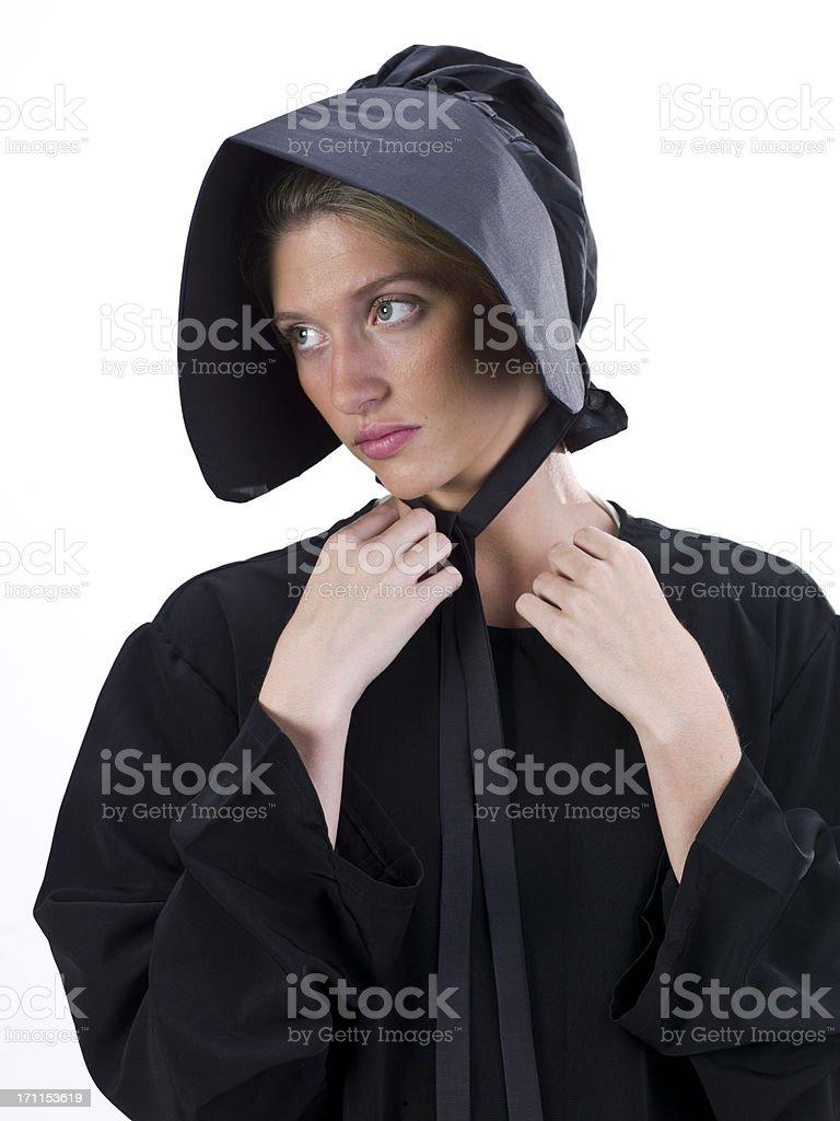 Real Amish Young Woman stok fotoğrafı