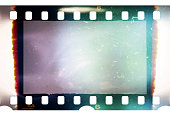 real 35mm film material with empty cell or frame, macro photo, no scan