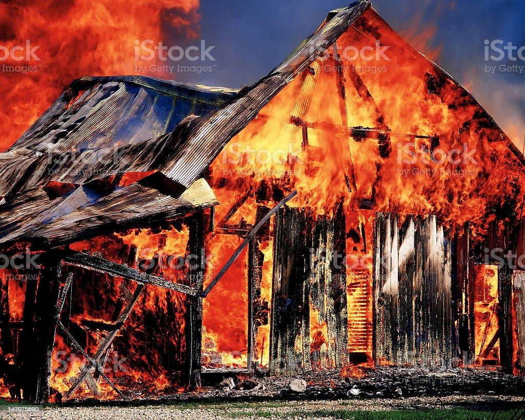 Real Barn Burner stock photo