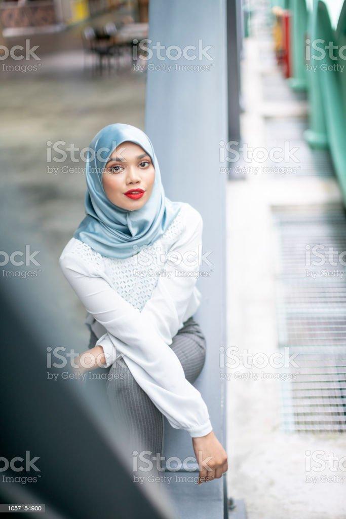 Beautiful muslim woman posing for a photo shot wearing hijab