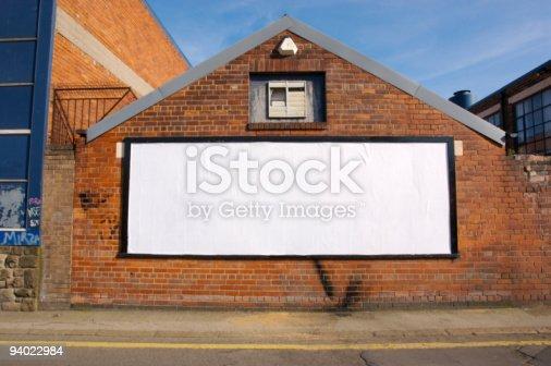 istock Real Blank Billboard 94022984