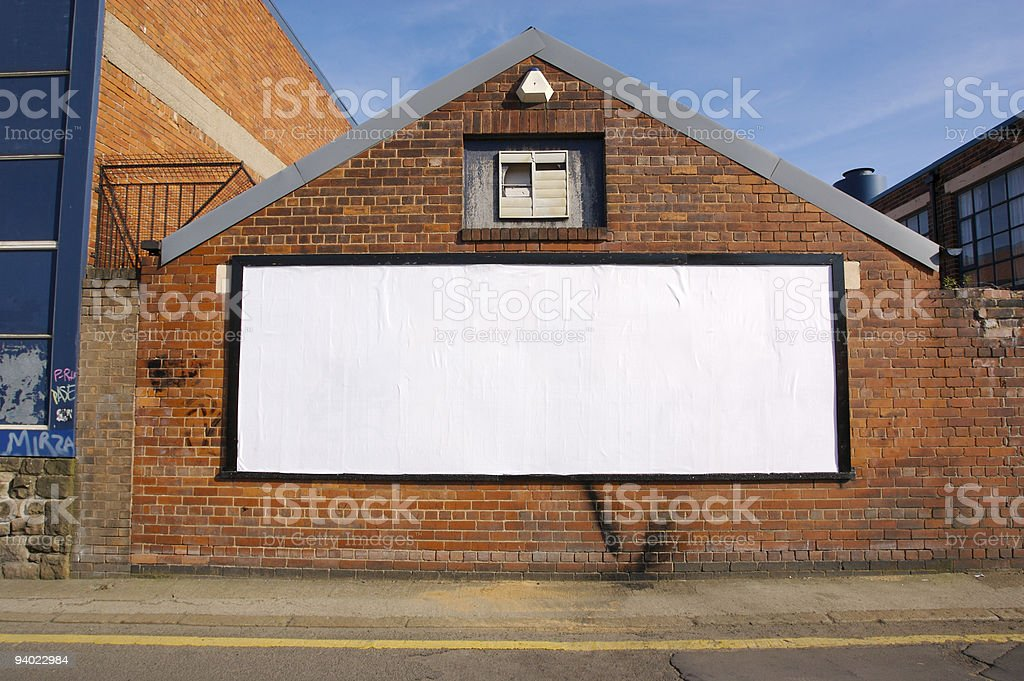 Real Blank Billboard stock photo