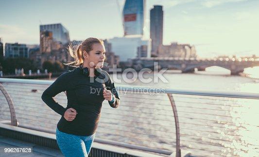 Oversize body sportswoman in London