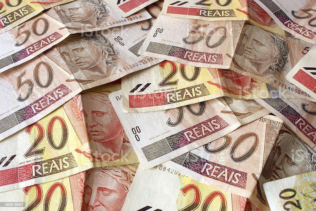 Real - Brazilian money royalty-free stock photo
