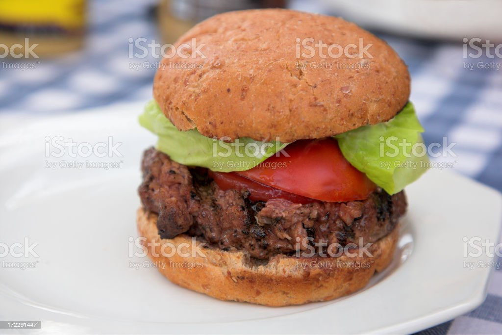Real Burger royalty-free stock photo