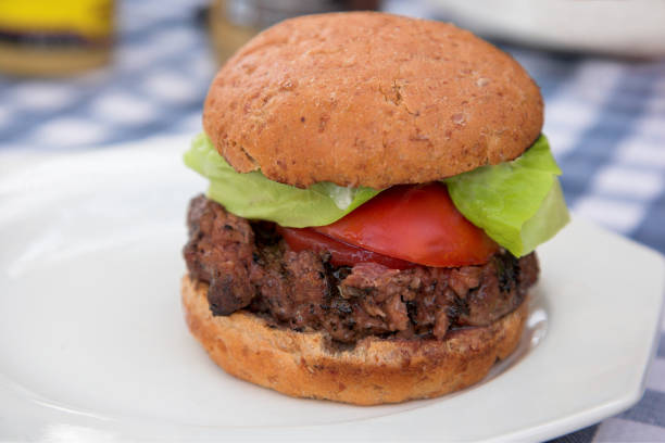 Real Burger stock photo