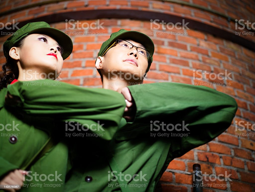 Real chinese rebellions royalty-free stock photo