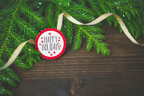 Real ramas de árbol de Navidad y fondo de mensaje - foto de stock