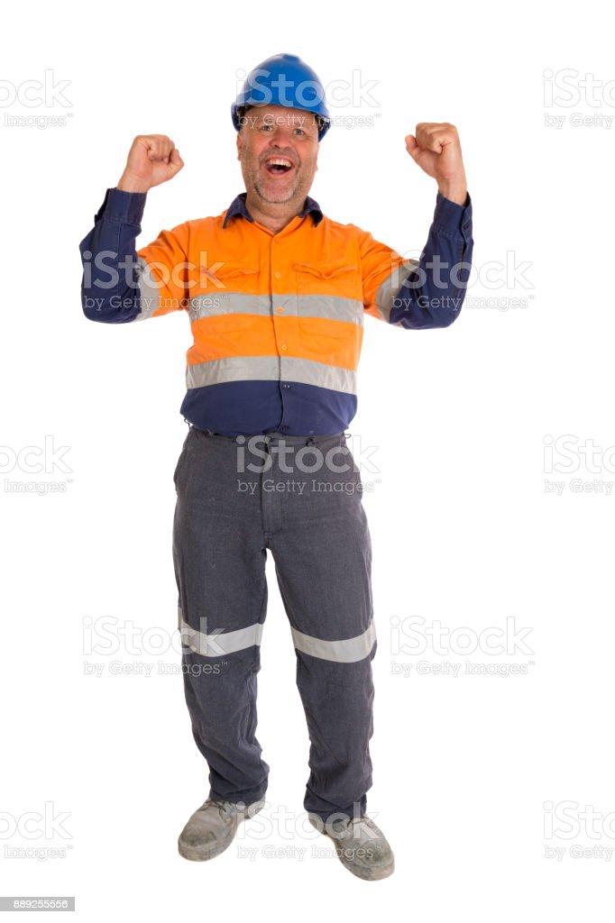 Echte Bauarbeiter – Foto