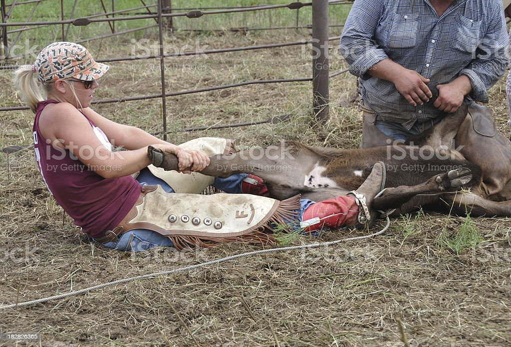 Real Cowgirl stock photo