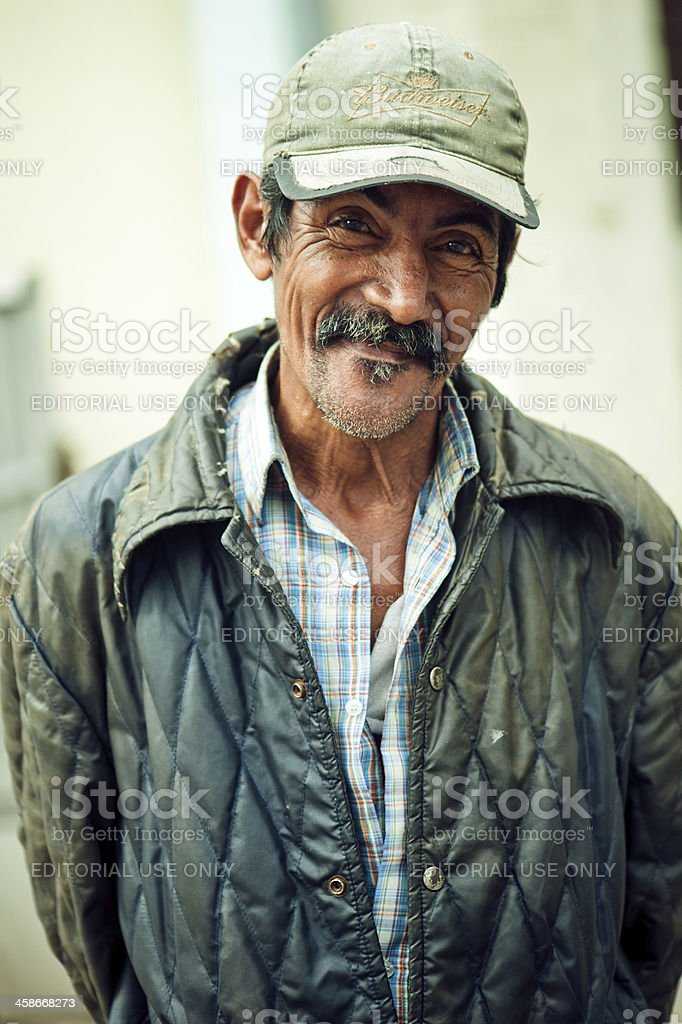 Real Cuban senior man stock photo