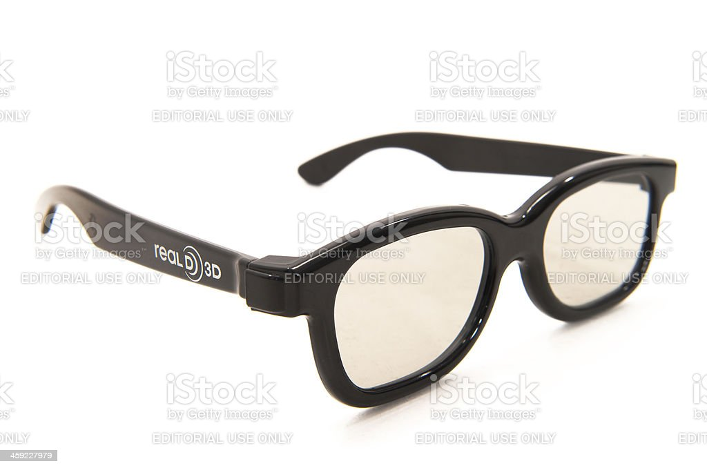 Real D 3D Glasses stock photo