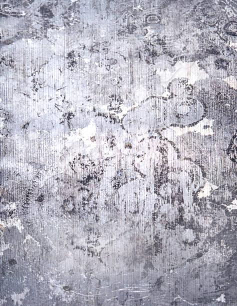 Echten Damast-Muster. Metall Hintergrund. – Foto