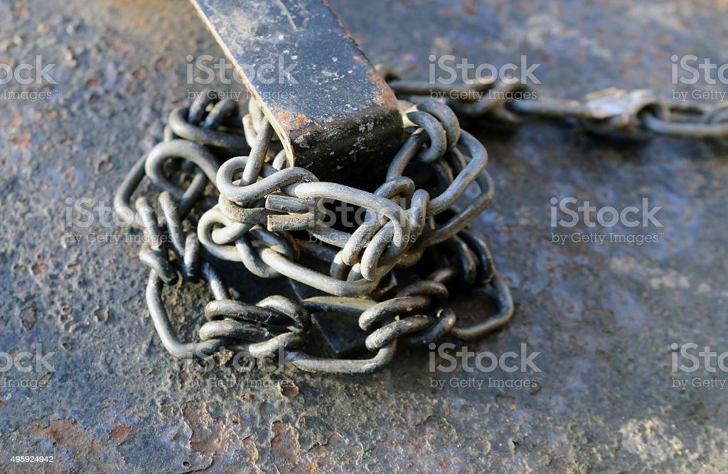 Real Dirty Rusty Chain stock photo
