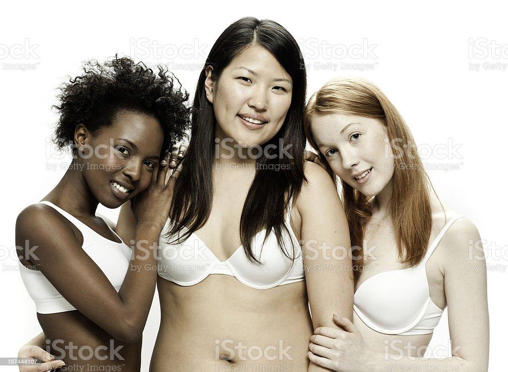 Real Diverse Beautiful Women stock photo