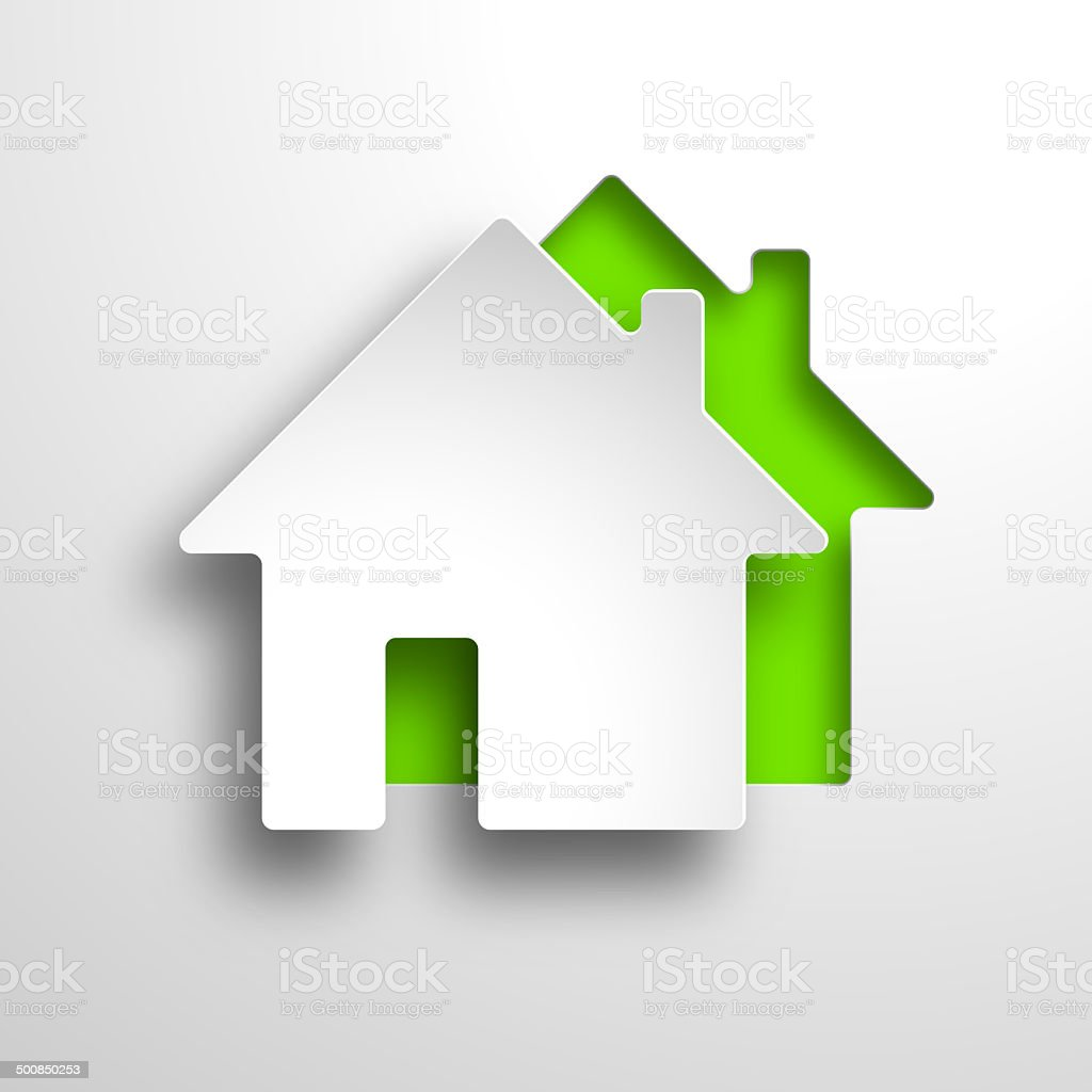 real estate 3d vector green background stock photo
