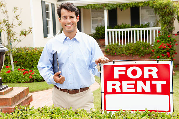 real estate agent at work - tenant stock photos and pictures