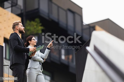 A young businesswoman on a meeting with a real estate agent