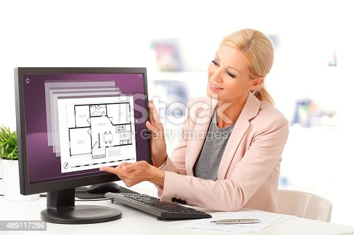 istock Real estate agent 489117286