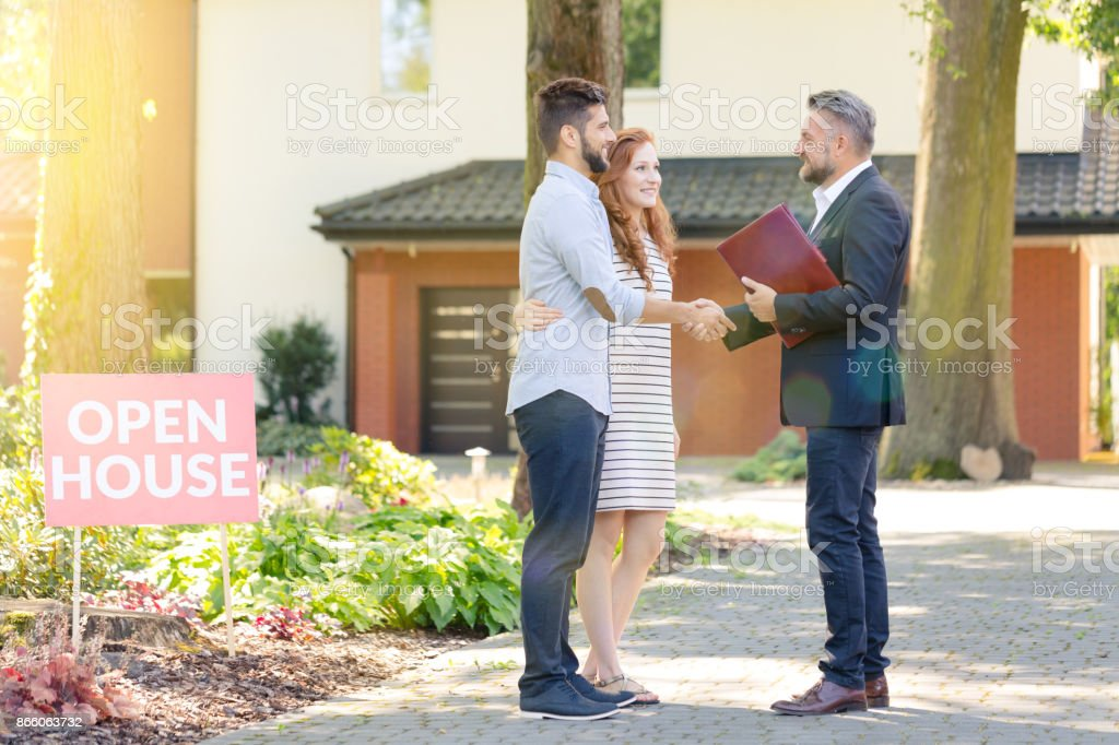 Real Estate Agent Besucher – Foto