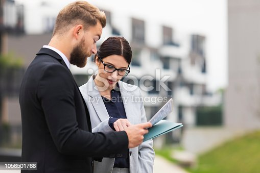 A real estate agent on a meeting with a businesswoman