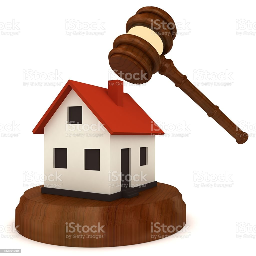 Real Estate Auction royalty-free stock photo
