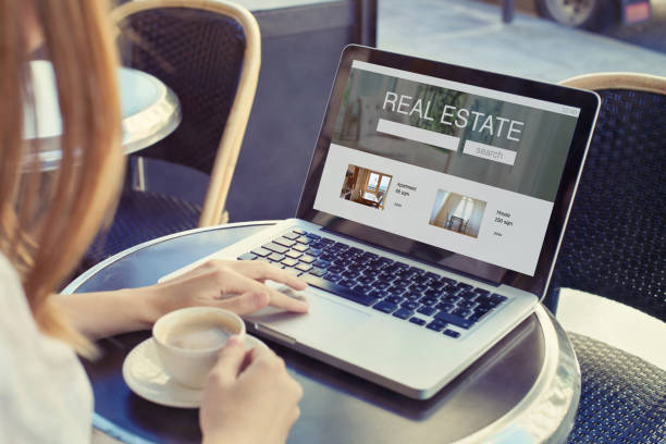 real estate concept, buy or rent apartment or house stock photo