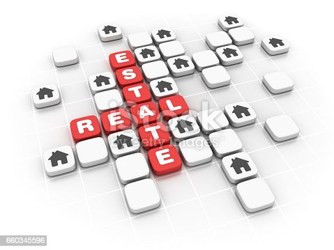 470163746 istock photo Real Estate Concept Crossword - 3D Rendering 660345596