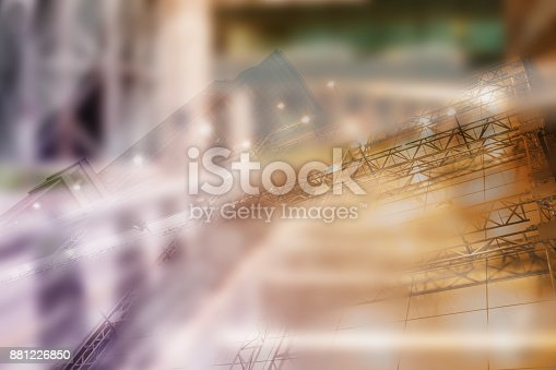885968454istockphoto Real estate concept, double expo blueprint and keys 881226850