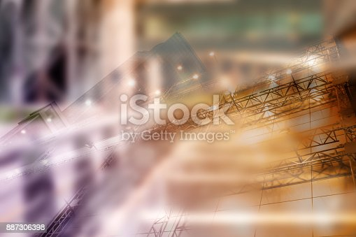 885968454istockphoto Real estate concept, double expo blueprint and keys 887306398