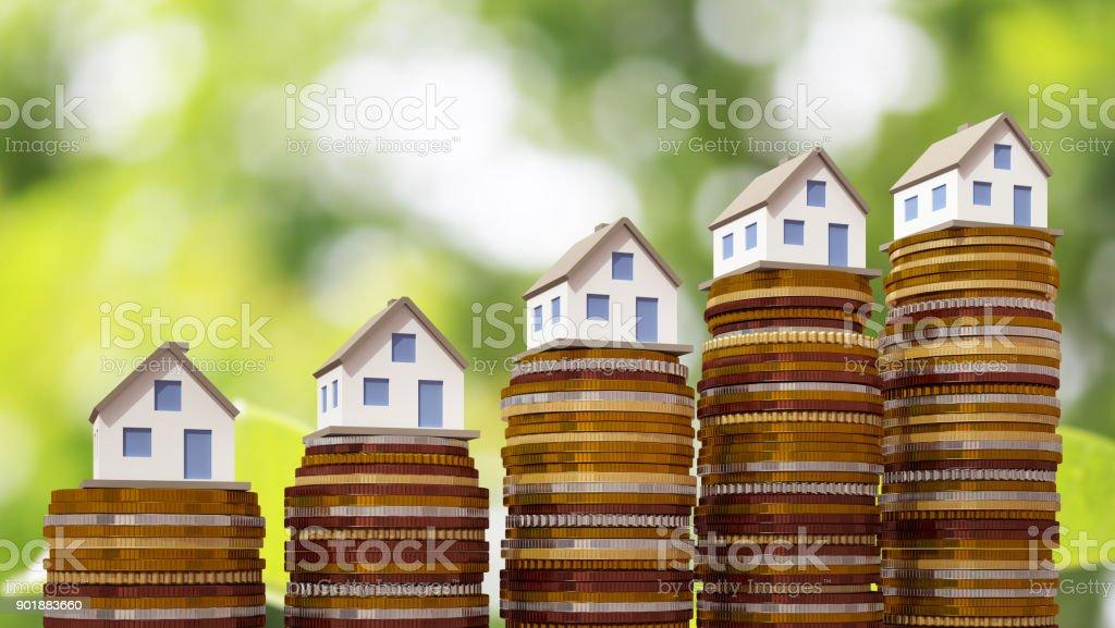 Concepto de bienes raíces - foto de stock
